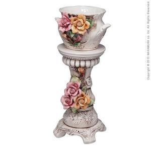 ヴェローナアクセサリーズ 陶製コラムポット イタリア 家具 ヨーロピアン アンティーク風|lamp|03
