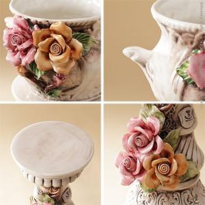 ヴェローナアクセサリーズ 陶製コラムポット イタリア 家具 ヨーロピアン アンティーク風|lamp|04