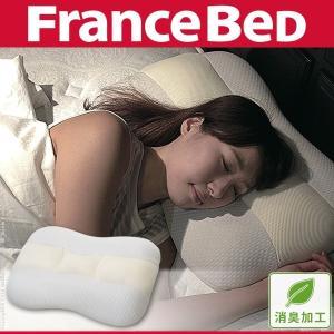 デュアルタッチピロー フランスベッド 枕 低反発 高反発|lamp