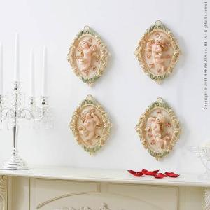 エンジェルシリーズ Ange〔アンジェ〕 壁掛けモチーフ4個組 天使 壁掛け 姫系 インテリア lamp