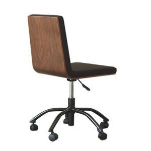 ウォルナット オフィスチェア レガート  機能性 椅子 チェア 北欧 カフェ風 ブラック ブラウン リビング おしゃれ 1人暮らし 人気 ブラウン デ|lamp