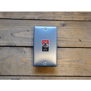 トグルスイッチプレート フラット&文字プレート 1個用 インダストリアル|lamps1122