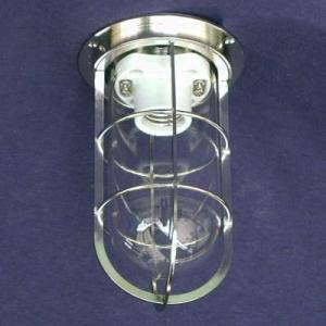 密閉型直付灯(デッキライト)    KS-50  シルバー色   透明|lamps