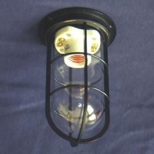 密閉型直付灯(デッキライト)  KS-50CBK  黒半つや色  透明|lamps