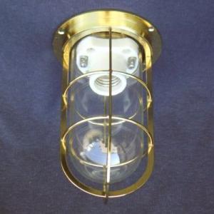 密閉型直付灯(デッキライト)  KS-50G ゴールド色  透明|lamps