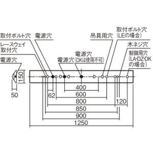パナソニック製 XLX410AENCLE9(2000 lmタイプ)富士型W150 FLR40形×1灯器具節電タイプ・|lamps|02