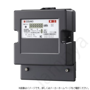 大崎電気工業 A7EA-R 200V 120A 60Hz 西日本 三相3線式 A7EA-R200V120A60Hz 電子式電力量計(検定付)|lampya
