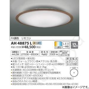 LEDシーリングライト AH48875L(AH 48875L)〜12畳用 コイズミ照明|lampya