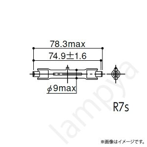 ハロゲン電球 J110V100W/S (J110V100WS) 岩崎電気|lampya