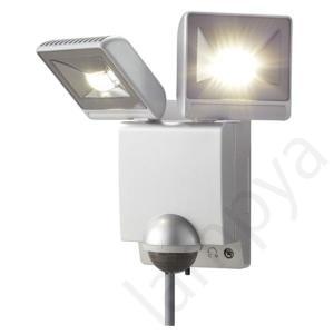 即納 オプテックス OPTEX LEDセンサーライト 2灯型 シルバー LA-22LED(S)LA22LEDS|lampya