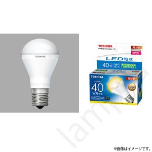 LED電球 E17 口金 LDA4L-H-E17/S/40W(LDA4LHE17S40W)電球色 ミニクリプトン形電球 東芝ライテック|lampya