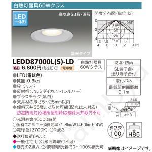 LEDダウンライト LEDD87000L(S)-LD(LEDD87000LSLD) 東芝ライテック|lampya