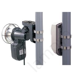 オプテックス OPTEX 防犯カメラ用 ポール取付用金具 PA-1【PA1】|lampya