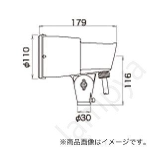 LEDioc LEDアイランプSP用・E39口金形用 アイ SSAホルダ SSA-0(SSA0)赤色 岩崎電気|lampya