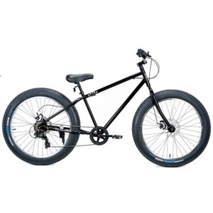 26BRONX-DD グロスブラック×ポリッシュリム ブロンクス ファットバイク レインボー ビーチクルーザー 26インチ 自転車 メンズ レディース 7段変速 lanai-makai