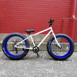 26BRONX-DD R2D2グロスホワイト×ブルーリム ブロンクス ファットバイク レインボー ビーチクルーザー 26インチ 自転車 メンズ レディース 7段変速|lanai-makai