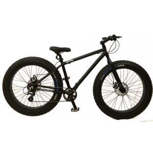 ファットバイク 26インチ 極太タイヤ マウンテンバイク 変速付 おしゃれ 自転車 通勤 通学 ブロンクスファットバイク 26BRONX-TRX マットブラック×ブラックリム|lanai-makai