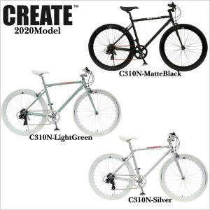 クロスバイク 700C 7段変速 ディープリム クロスバイク ロードバイク おしゃれ 自転車 通勤 通学 CREATE C-310N メンズ レディース|lanai-makai