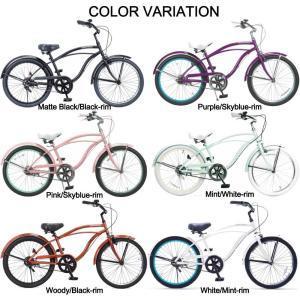 自転車 Feelling of decks FOD-22 子供用自転車 22インチ ビーチクルーザー おしゃれ ジュニア 小学生 レインボー|lanai-makai