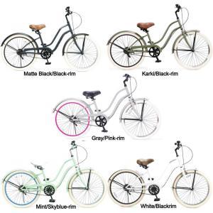 ビーチクルーザー 24インチ おしゃれ 自転車 レディース ジュニア 小学生 レインボー Feelling of decks FOD-24|lanai-makai
