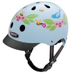 自転車 ジュニア ヘルメット NUTCASE LITTLE NUTTY Design:BLUEBIRDS BEES|lanai-makai
