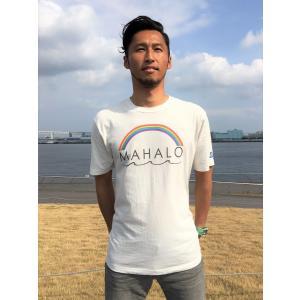 オーシャンズラブ OCEAN'S LOVE メンズ マハロハワイTシャツ プレミアム NPO法人 ボランティア サーフィン おしゃれ|lanai-makai