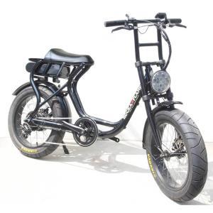 ROCKA FLAME e-bike FUMA メタルブラック 自転車 電動アシスト Eバイク 公道可 送料無料 東京 神奈川 埼玉 千葉 限定 ファットバイク 20インチ 通勤 通学|lanai-makai