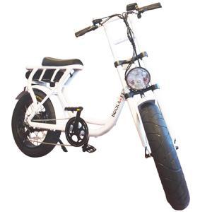 ROCKA FLAME e-bike FUMA メタルホワイト 自転車 電動アシスト Eバイク 公道可 送料無料 東京 神奈川 埼玉 千葉 限定 ファットバイク 20インチ 通勤 通学|lanai-makai