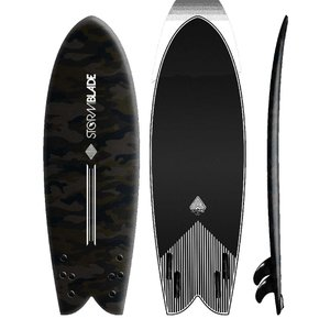 サーフボード ソフトボード STORM BLADE 5ft8 MODERN RETRO FISH SURFBOARDS|lanai-makai