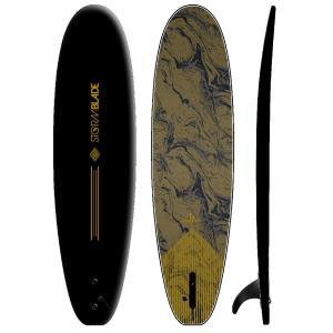 サーフボード ソフトボード STORM BLADE 7ft SURFBOARDS LTD  BLACK GOLD MARBLE GRAPHIC SINGLE FIN|lanai-makai
