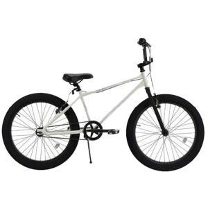 T-STREET BMX グロスホワイト レインボー 24インチ ファットタイヤ 自転車 おしゃれ 通勤 通学 メンズ レディース|lanai-makai