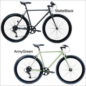 レインボー T-STREET ピスト クロスバイク ロードバイク 変速付き 自転車 おしゃれ 通勤 通学 メンズ レディース T-STREET 8SPEED|lanai-makai