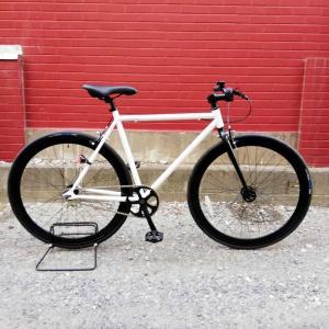 レインボー T-STREET ピスト クロスバイク ロードバイク 自転車 おしゃれ 通勤 通学 メンズ レディース T-STREET グロスホワイト|lanai-makai