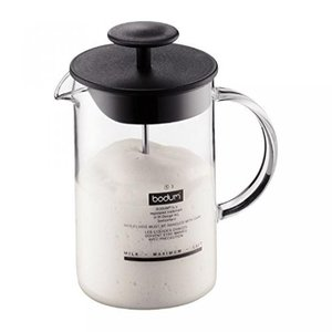 Bodum(ボダム)のキッチンアイテム Bodum Latteo Milk Frother With Glass Handle 0.25L / 8oz Black (Pack of 2) 正規輸入品