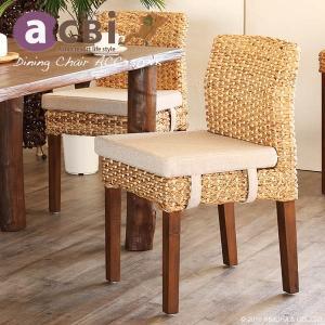アジアン家具 ダイニングチェアー 椅子 いす ウォーターヒヤシンス チーク無垢木製 アクビィ ACC350NK landmark