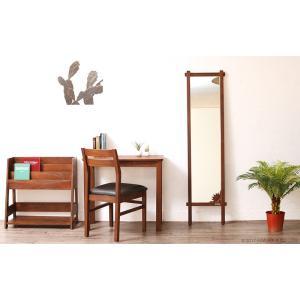 アジアン家具 スタンドミラー 全身 姿見 おしゃれ 鏡 ウォールミラー 壁掛け チーク 無垢 木製 アクビィ ナチュラル ACM160KA|landmark|03