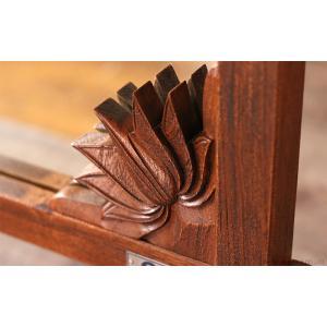 アジアン家具 スタンドミラー 全身 姿見 おしゃれ 鏡 ウォールミラー 壁掛け チーク 無垢 木製 アクビィ ナチュラル ACM160KA|landmark|05