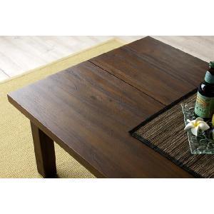 アジアン家具 エスニック センターテーブル 机 チーク 無垢 木製 北欧  アクビィ ACT013KA|landmark|02