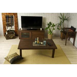 アジアン家具 エスニック センターテーブル 机 チーク 無垢 木製 北欧  アクビィ ACT013KA|landmark|03