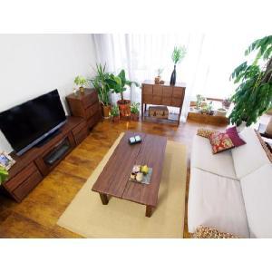 アジアン家具 エスニック センターテーブル 机 チーク 無垢 木製 北欧  アクビィ ACT013KA|landmark|06
