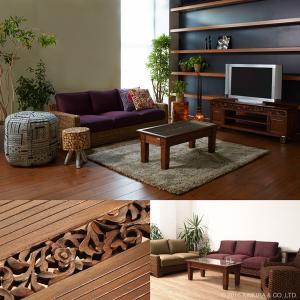 アジアン家具 センターテーブル おしゃれ リビング ローテーブル 机 チーク無垢 木製 アクビィ ACT018KA|landmark|02