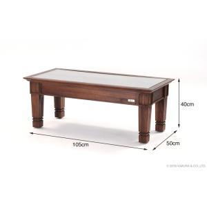 アジアン家具 センターテーブル おしゃれ リビング ローテーブル 机 チーク無垢 木製 アクビィ ACT018KA|landmark|06