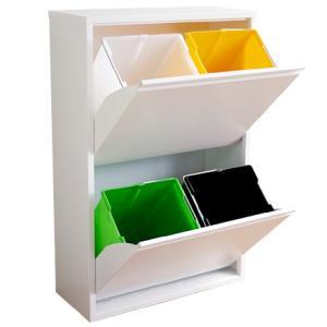 ゴミ箱 ダストボックス 分別 おしゃれ キッチン 4 リサイクルビン 北欧 モダン xx011240|landmark