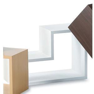 セレクト家具 パズルラック ホワイト 4個セット AZNWS558WH landmark