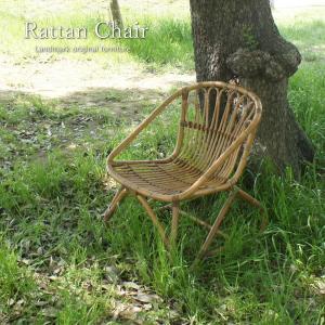 パーソナルチェア ラタン チェア 籐 椅子 いす アジアン ナチュラル おしゃれ 木製 C155MMEの写真