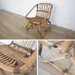 キッズチェア ラタンチェア 子供椅子 いす 籐 ラタン 家具 アジアン おしゃれ アンティーク調 木製 C155SME|landmark|03