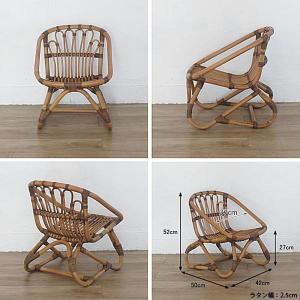 キッズチェア ラタンチェア 子供椅子 いす 籐 ラタン 家具 アジアン おしゃれ アンティーク調 木製 C155SME|landmark|04