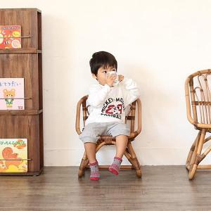 キッズチェア ラタンチェア 子供椅子 いす 籐 ラタン 家具 アジアン おしゃれ アンティーク調 木製 C155SME|landmark|05