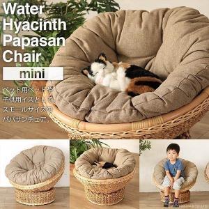 ペットベッド カドラー 猫 犬 子供用椅子 パパサンチェア ミニ  1人掛け ソファー ウォーターヒヤシンス C286NAZ|landmark