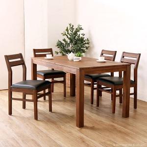 アジアン家具  ダイニングチェアー 合成皮革 チーク無垢 木製 おしゃれ 北欧 椅子 いす C340KA|landmark|02
